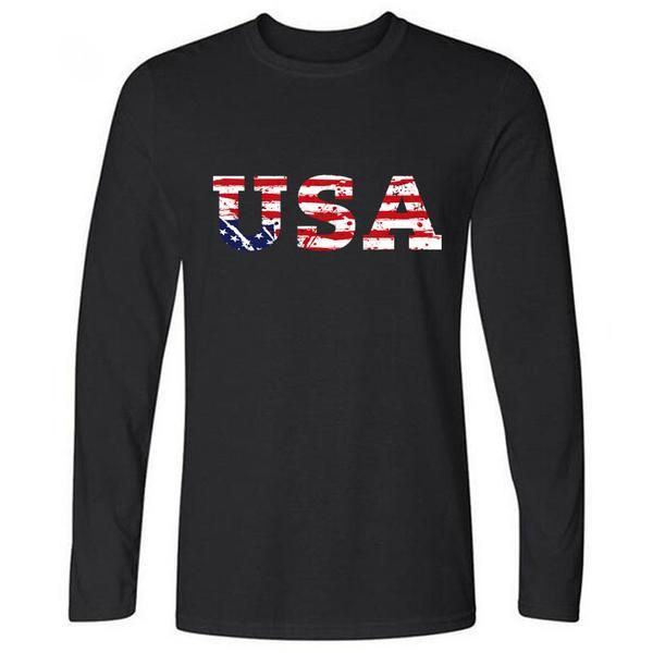 T-shirt with long sleeves USA 3 colors  For ordering, go to www.attwoodstore.com  Free worldwide shipping