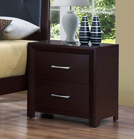 Homelegance Edina Collection Espresso Nightstand 2145-4