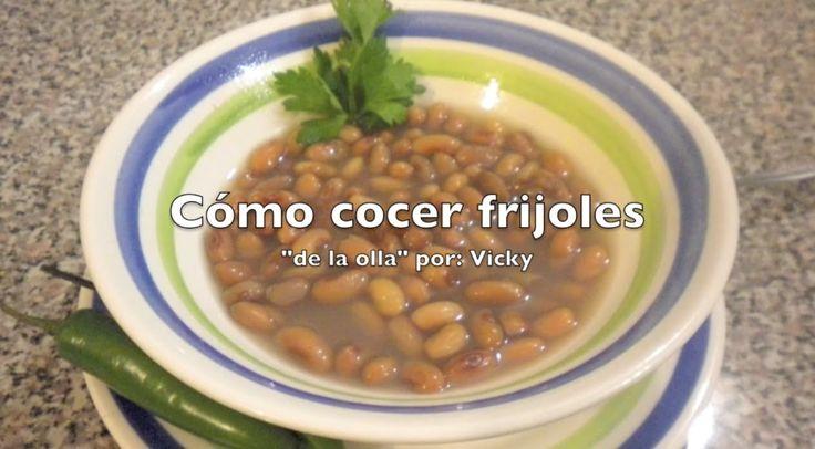 COMO COCER FRIJOLES DE LA OLLA | Receta Facil - YouTube