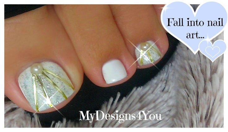 DIY Wedding Toenail Art Design | Bridal Nails ♥ Свадебный Педикюр