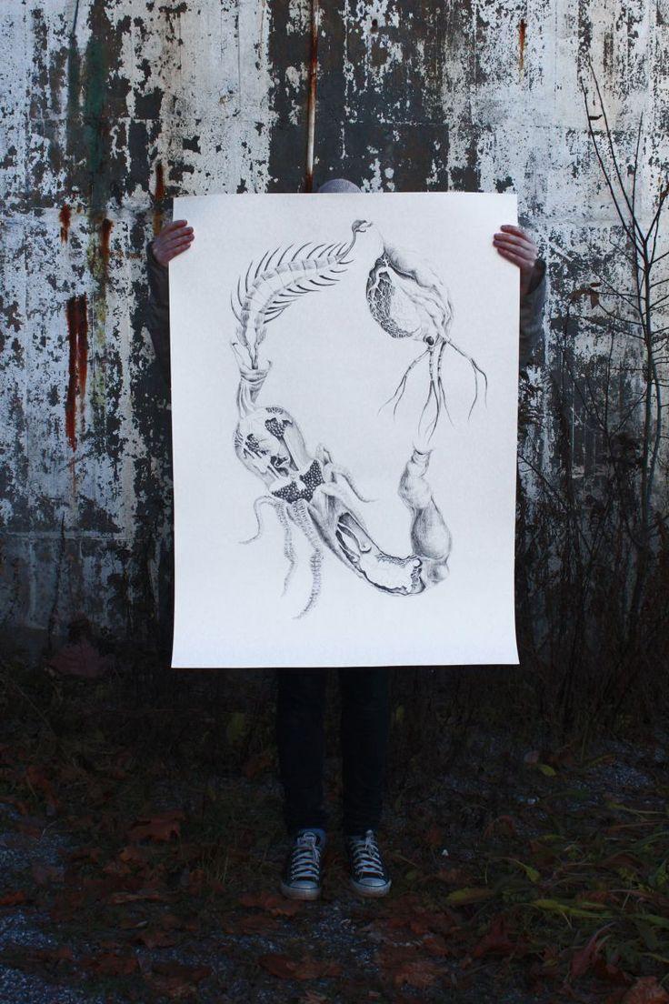 drawing, pencil