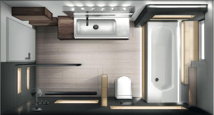 Layout Badezimmer Design