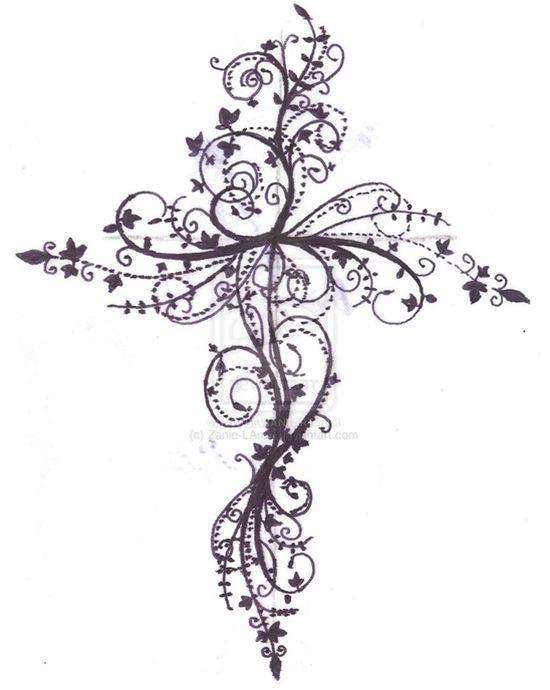 Cross tattoo design by ~Zanie-LArch on devian - Popular tattoos Pins on Pinterest
