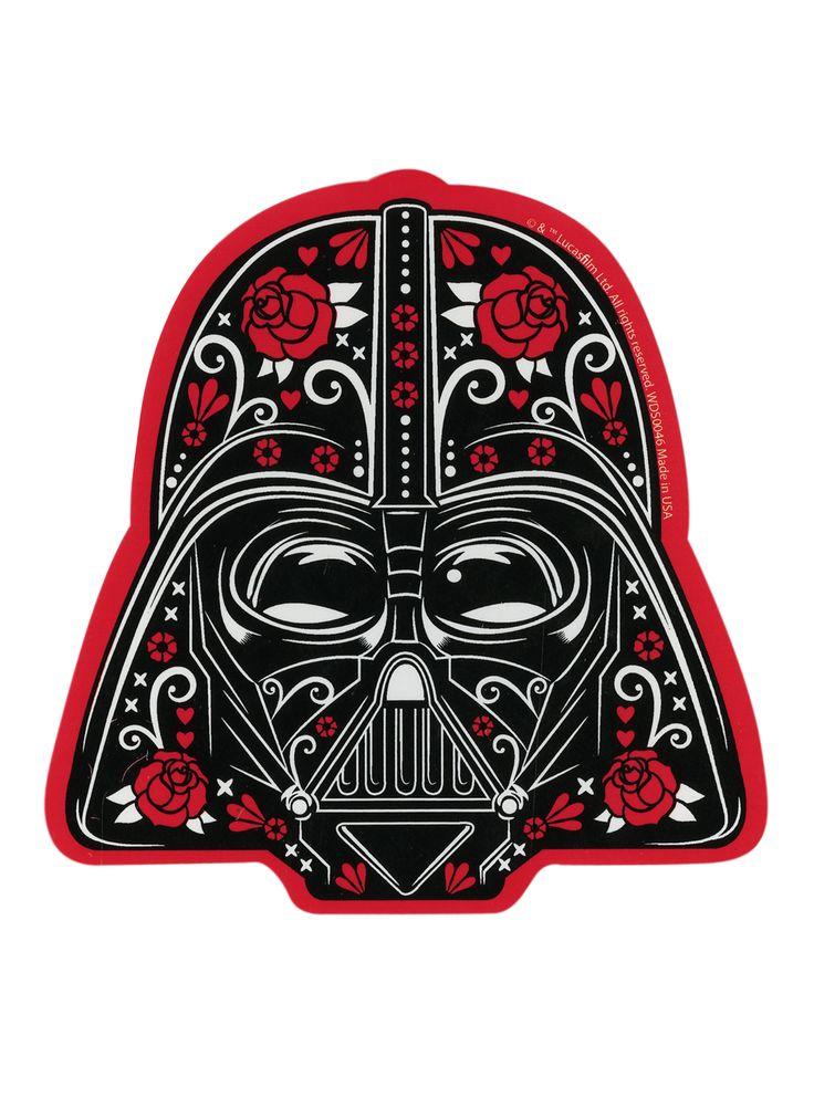 Star Wars Darth Vader Sugar Skull Sticker   Hot Topic