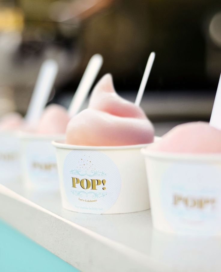 Try our signature 'champagne' sorbet the next time you hire us for your special occasion.  www.popmobilebar.com