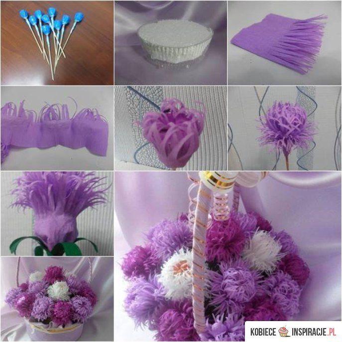 Pomyslowe Kwiatki Z Bibuly Flower Bouquet Diy Paper Flowers Paper Flowers Diy