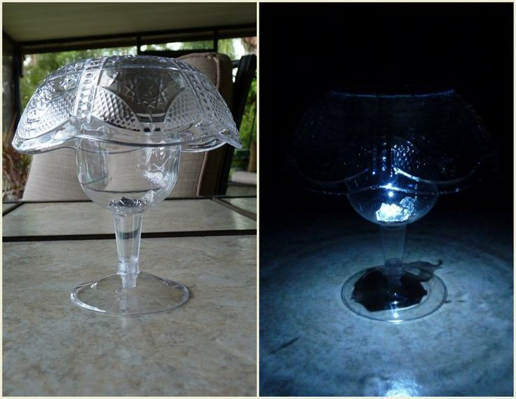Solar mushroom lamp table version and outdoor version for Where to buy solar lights for crafts