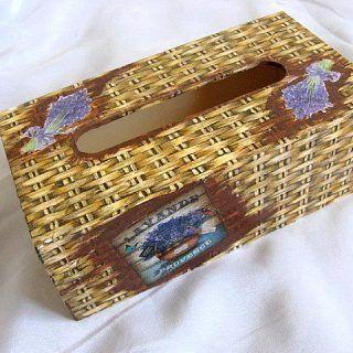Design nuiele de rachita si lavanda cutie servetele