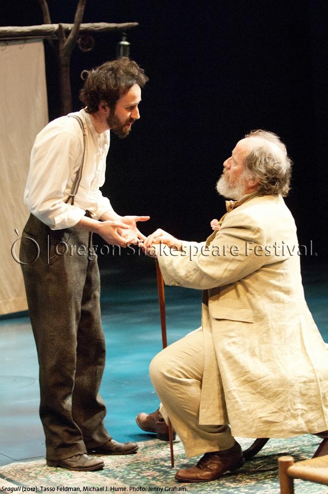 Oregon Shakespeare Festival. SEAGULL (2012): Tasso Feldman and Michael J. Hume. Photo: Jenny Graham.