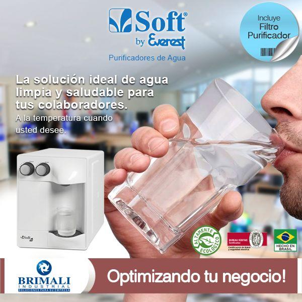 Este #Verano2015 en el #trabajo o en la #oficina, cuida la salud de tus colaboradores con el #purificador de #agua Soft By Everst. Dispensador de agua #natural y #helada. Catálogo: http://www.brimaliindustrial.com.pe/productos/linea-purificadores/soft-by-everest/351/ Correo directo: ventas@brimaliindustrial.com.pe