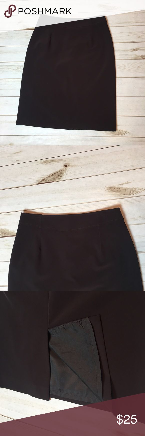 "{Louben} chocolate brown pencil skirt. {Louben} chocolate brown pencil skirt. Size 10, waist 32"", hips 20"" across flat, back zipper 8"", length from top of waist to bottom of skirt 25"", rear slit 7 1/2"". Great Condition! Louben Skirts Pencil"