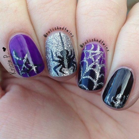 20 coole einfache Halloween-Nagelkunstideen