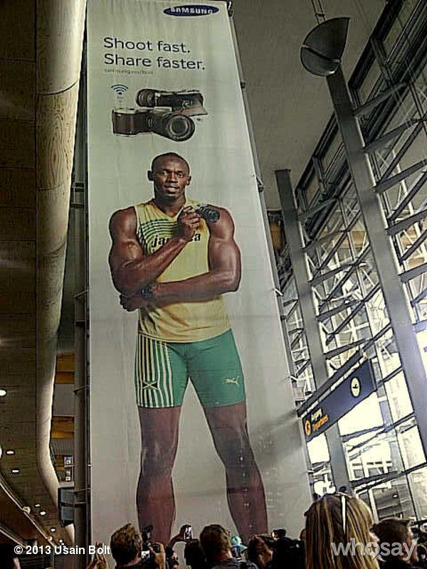 """Usain Bolt's photo """"Look who I saw in Oslo airpor...""""  on @Jose Quilisadio"""