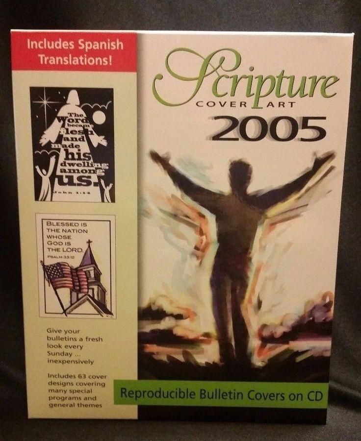 Scripture Cover Art 2005 PC CD-ROM Bulletin Covers Christian Graphics Customize #CommunicationResourcesInc