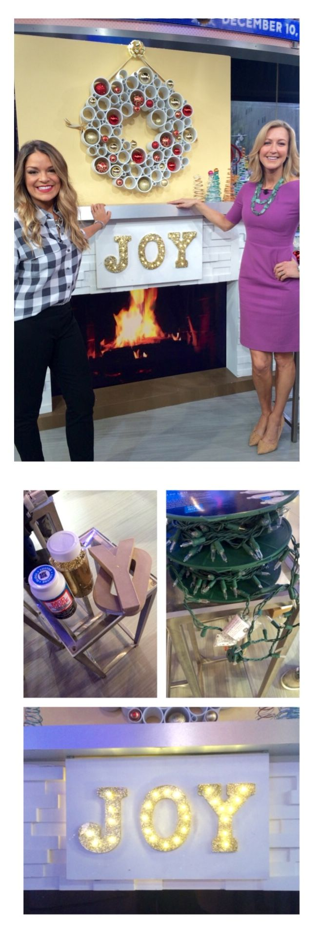 Oh Joy!  Sabrina Soto showed us this great DIY project on Good Morning America's Improve This - learn how to light up your holiday season with: http://abcn.ws/1scnsf2