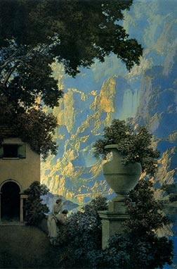Maxfield Parrish ♥ Inspirations, Idées & Suggestions, JesuisauJardin.fr, Atelier de paysage Paris, Stéphane Vimond Créateur de jardins ♥