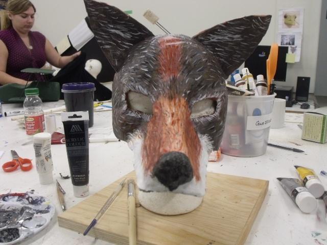 Coyote mask made in Masterclass 2012