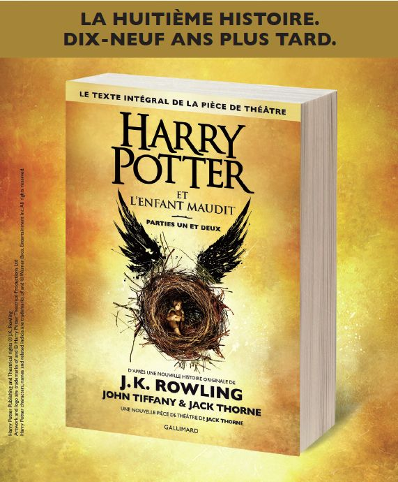 Harry Potter et l'Enfant maudit écrit par J. K. Rowling. http://place-to-be.net/index.php/litterature/young-adult/5420-harry-potter-et-l-enfant-maudit-ecrit-par-j-k-rowling