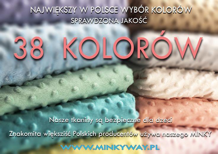 Już od przyszłego tygodnia w sprzedaży 38 kolorów               38 kolorów Pluszu Minky Dots             Zapraszamy do naszego sklepu                       www.minkyway.pl