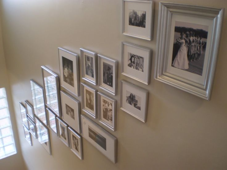 decorating tall walls | Budget Decorating: Photo Collage | Emily Ann Interiors