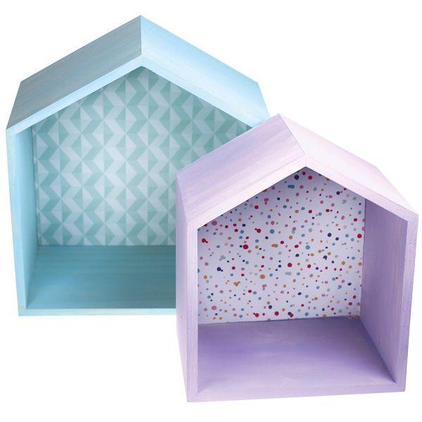 Chalky-väreillä ja kuviopapereilla koristellut puulaatikot. Tarvikkeet ja ideat Sinellistä!