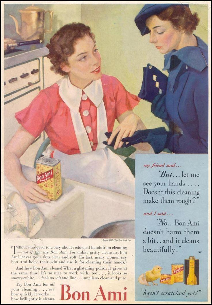 newspaper advertisementsVintage Bon, 03 01 1935 Inside, Inside Front, Newspaper Advertising, Bon Amy, Vintage Ads, Vintage Add, Amy Cleanser, Housekeeping 03 01 1935