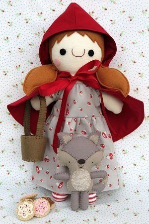 """Red Riding Hood & Wolfie"" designed by Fiona Tully for Two Brown Birds."
