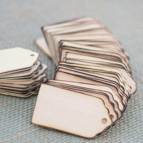 Rustic Classic Wood Favor Tags by Beau-coup