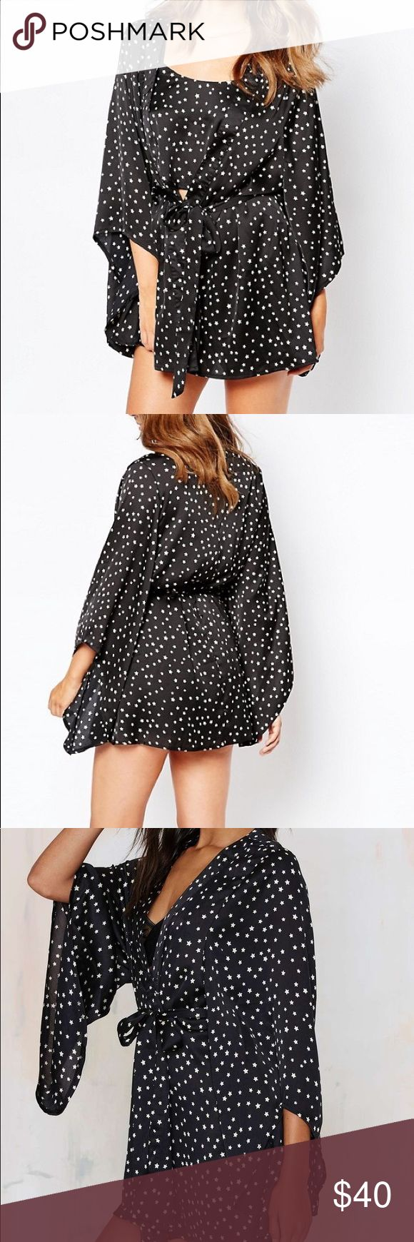 Nasty Gal Lavish Alice Star Print Kimono Robe ✨ Bundle & Save, No Trades ✨ Brand New with Tags but Missing Sash ✨ Nasty Gal Intimates & Sleepwear Robes