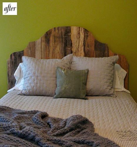 Wooden headboard. Rustic material. Classic shape.   www. facebook.com/LFFdesigns