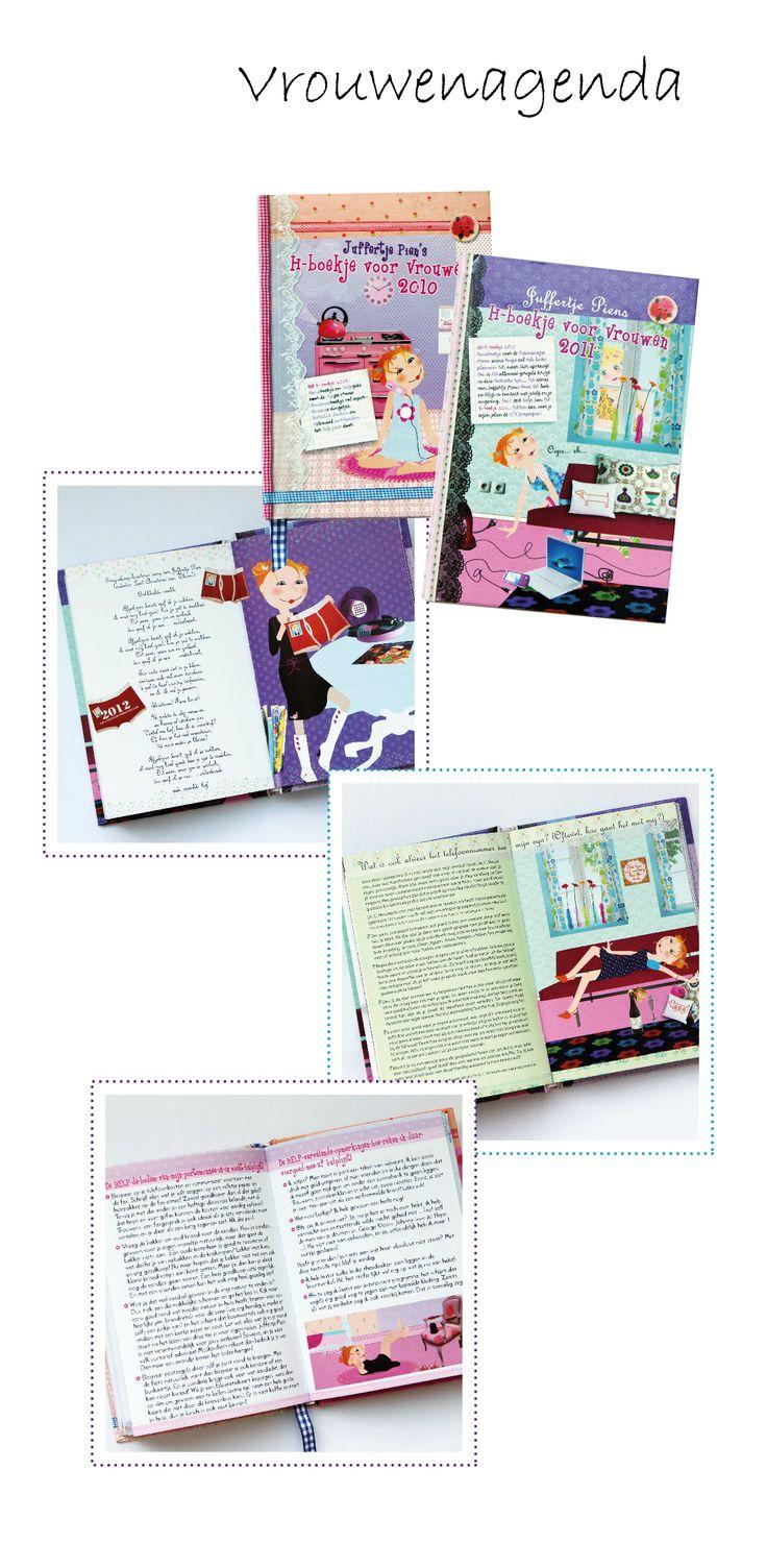 Concepten bedenken en uitwerken / Schrijven van teksten / Contacten leggen met uitgever, verkooppunten, redacties vrouwenbladen / Coördinatie en verkoop agenda's / Regelen van persberichten en illustratie- en fotomateriaal