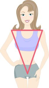 inverted triangle body type