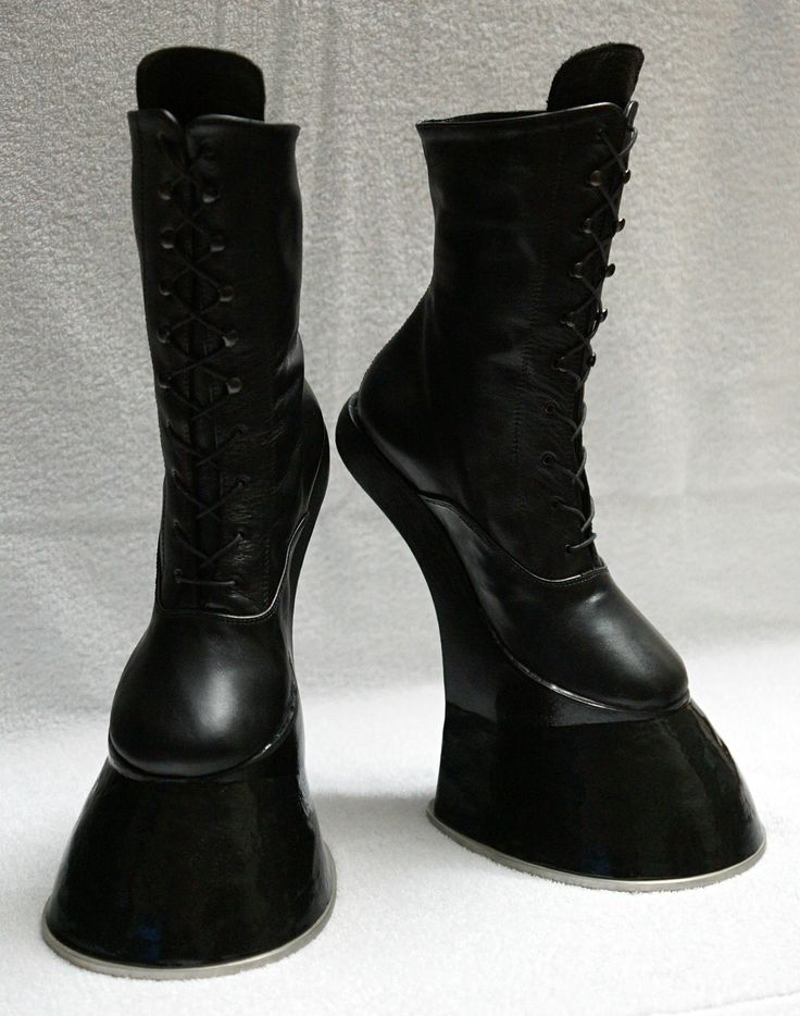 Horse / Pony hoof boots - with horseshoe  A pair of horse hoof boots, ankle high… including stainless steel horseshoes attached, 5mm strong! Perfect for LARP, pony & animal play and other occasions, too.       https://www.etsy.com/de/listing/211594177/pony-boots-horse-boots-grosse-37-mit  And there is a YT video available, too: http://youtu.be/CqQMi_t78SU  IF YOU WANT THEM… JUST ASK ME, I´M TAKING COMMISSIONS!