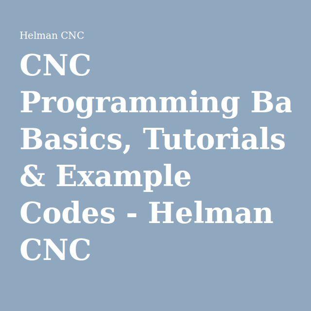 simple cnc programming examples pdf