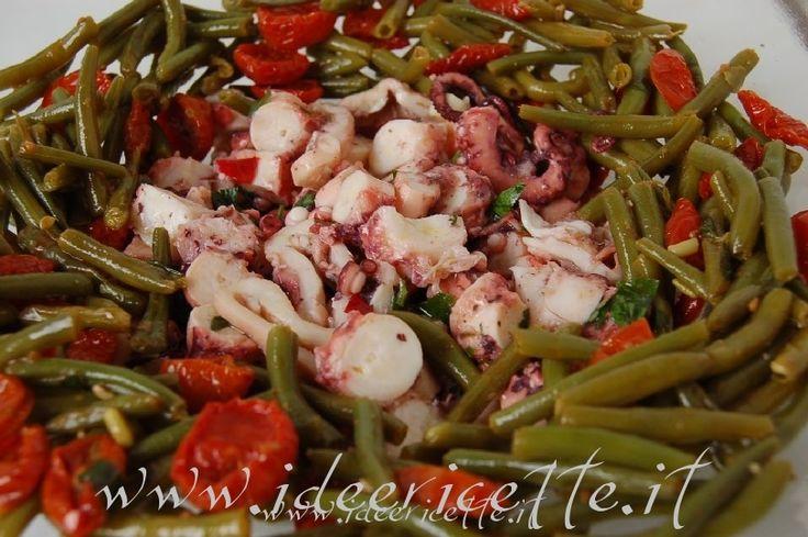 Ricetta Insalata di polpo, fagiolini e pomodorini ciliegini semisecchi Agromonte
