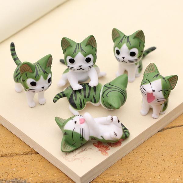 Grey Tabby Kitten Figure  - Shop Cute Things - Get FREE Shipping at CuteFTW.Com