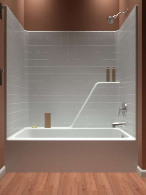 Tub and shower one piece renovation ideas pinterest for 4 piece bathroom ideas