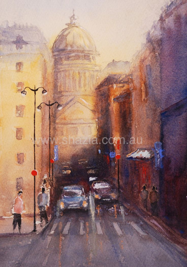 Ahh love Paris!!! Paris, watercolour  www.shazia.com.au