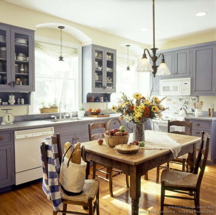 Kitchen of the day early american kitchens by crown for Early american kitchen cabinets