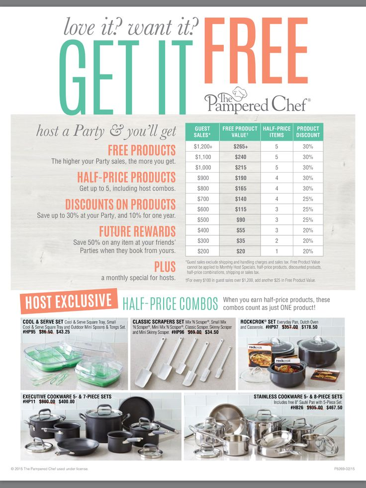 55 best Hosting a Pampered Chef Party images on Pinterest | Chef ...