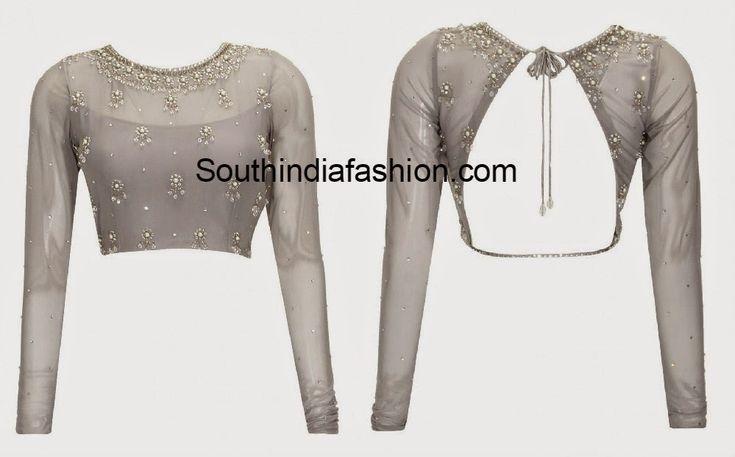20 Stylish Latest Tie Back Blouse Designs