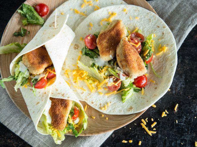 Crispy Chicken Wraps - Knusperhähnchen auf die Faust