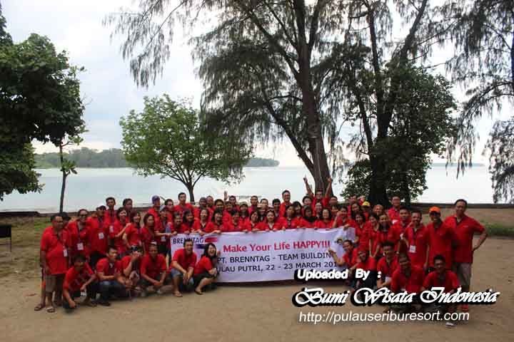 Fun Outing Group at Pulau Putri Kepulauan Seribu Resort Jakarta