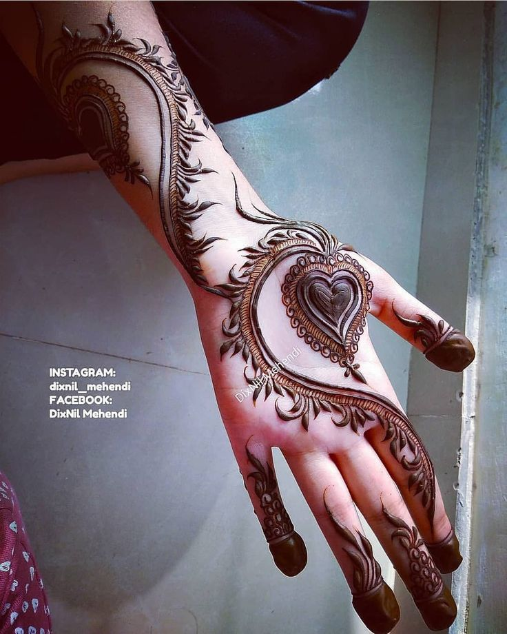13 Unique Henna Designs Doing The Rounds This Wessing: Pin By Sana Fkhan On Henna Designs ️