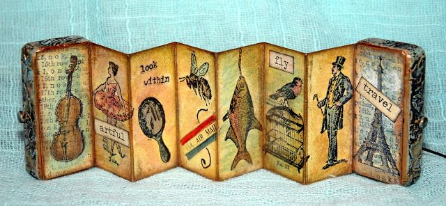 CREATIVITY IS CONTAGIOUS: TIM'S TINY THINGS DOMINO ACCORDION BOOK