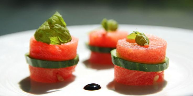 melon, cucumber, mint - easy snacks