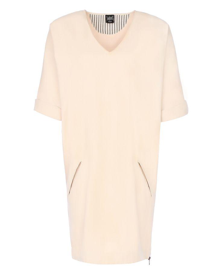 Купить хлопковое платье свободного кроя с прорезными карманами от Swildens (5313) в интернет-магазине, цена на хлопковое платье свободного кроя с прорезными карманами