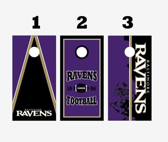 Custom Baltimore Raven Cornhole Boards