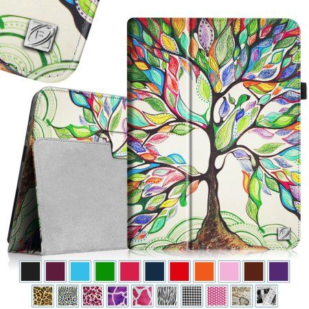Free Shipping. Buy Fintie Apple iPad 1st Generation Folio Case - Slim Fit Vegan Leather Stand Cover with Stylus Holder - Love Tree at Walmart.com