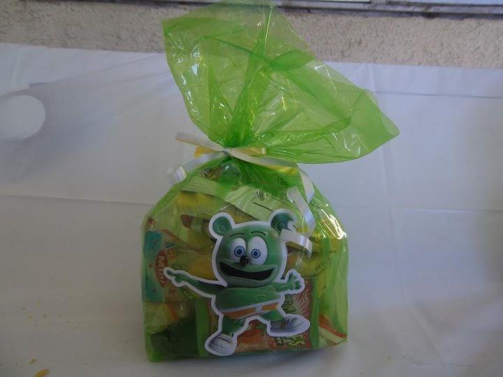 Homemade Gummibär goodie bags using the Gummibär stickers from my website! :)
